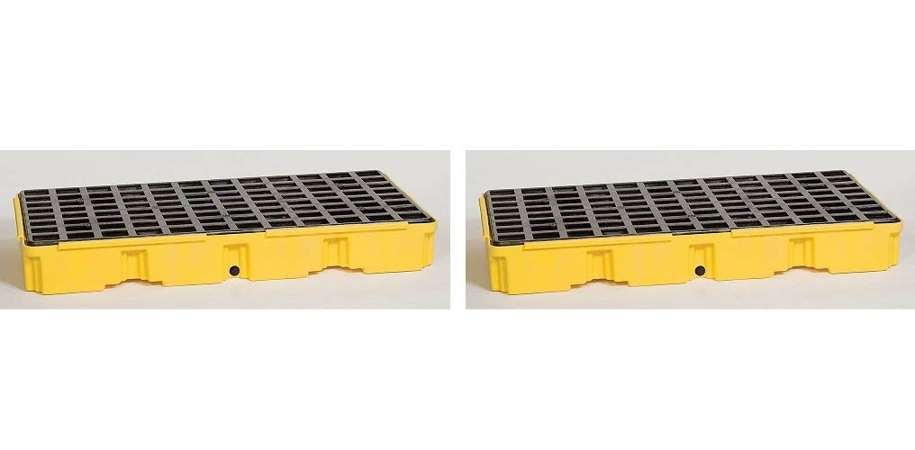 Eagle 1632D Yellow 2 Drum Modular Platform with Drain (Pack of 2)