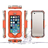 "Happy Hours - iPhone 5/5G/5S SE 4.0"" Waterproof PC Case / PET Touchscreen Full-wrapped Shockproof Phone Protective Cover Shell for 4.0 Inch Apple Cellphone Protection(Orange)"