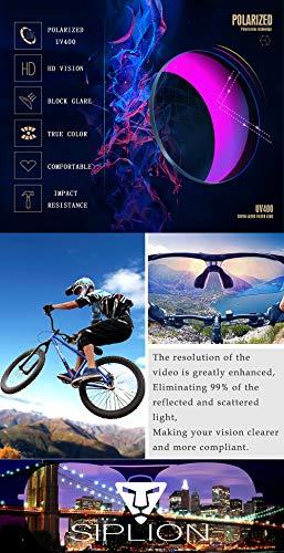 1c387a5145 SIPLION Men s Polarized Sunglasses Sports Glasses for Cycling Fishing Golf  TR90 Superlight Frame 502 BLACK