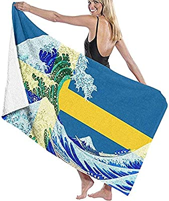 Dora Will Toalla de Playa Bandera de Suecia y Ola Off Kanagawa Manta de Playa Grande Secado rápido Toalla Extra Absorbente sin Arena: Amazon.es: Hogar