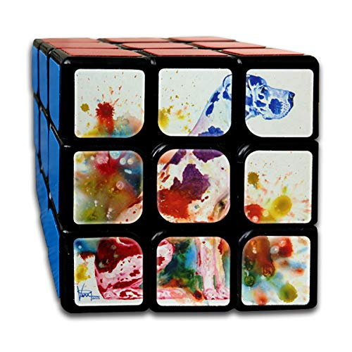 Rubiks Cube Spotted Dog Watercolor Great Speed Cube