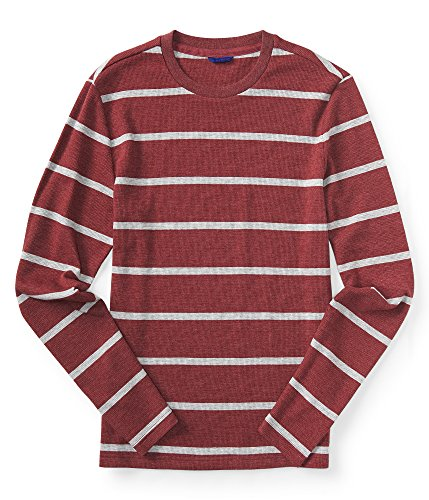 Aeropostale Final Sale- Long Sleeve Striped Thermal Tee 3XL Woodland Berry ()