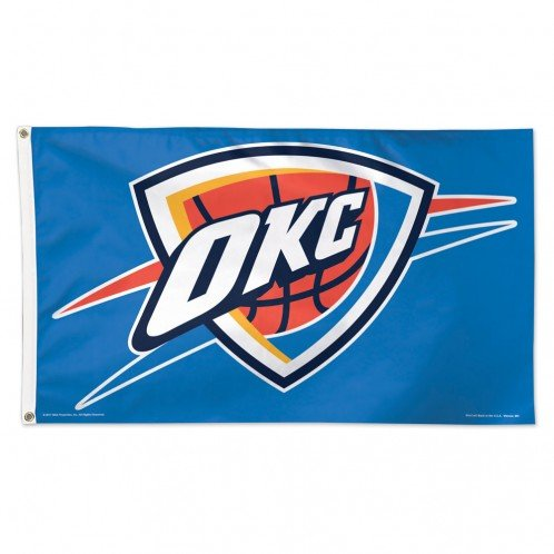 NBA Oklahoma City Thunder Deluxe Flag, 3 x 5', Multicolor by WinCraft