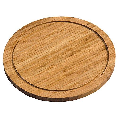 Kesper 58442 Fleischteller mit Saftrille aus Bambus