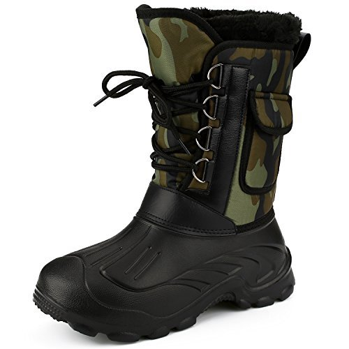 Men's Waterproof Rain Boot Mid Calf Winter Snow Warm Boots Garden Fishing Outdoor Shoes