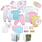 24-Piece Gift Cube, Pink, 0-6M