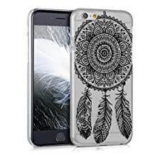 kwmobile Crystal Case for Apple iPhone 6 / 6S with Design dream catcher - transparent Protection Case Cover clear in black transparent