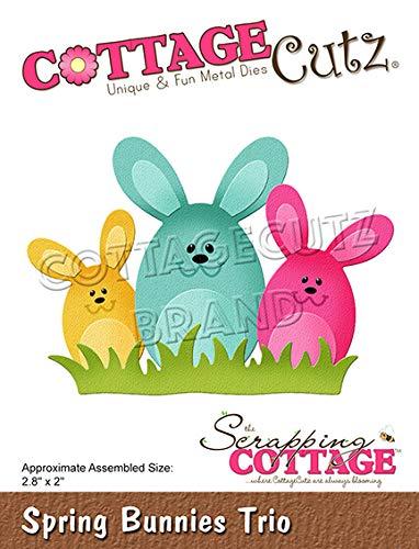 Cottagecutz Die-spring Bunnies Trio - Trio Spring
