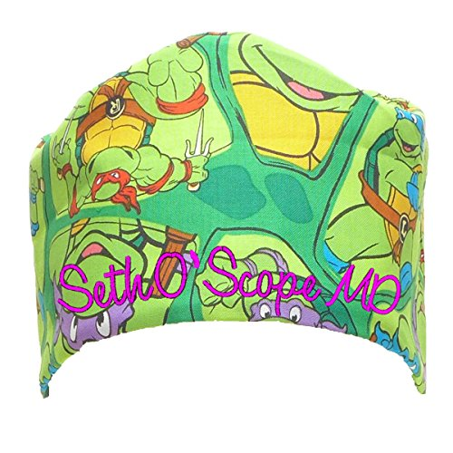 S1FM! Personalized Scrub Cap, TNMT, Handmade, Med, PK Dbl Cotton