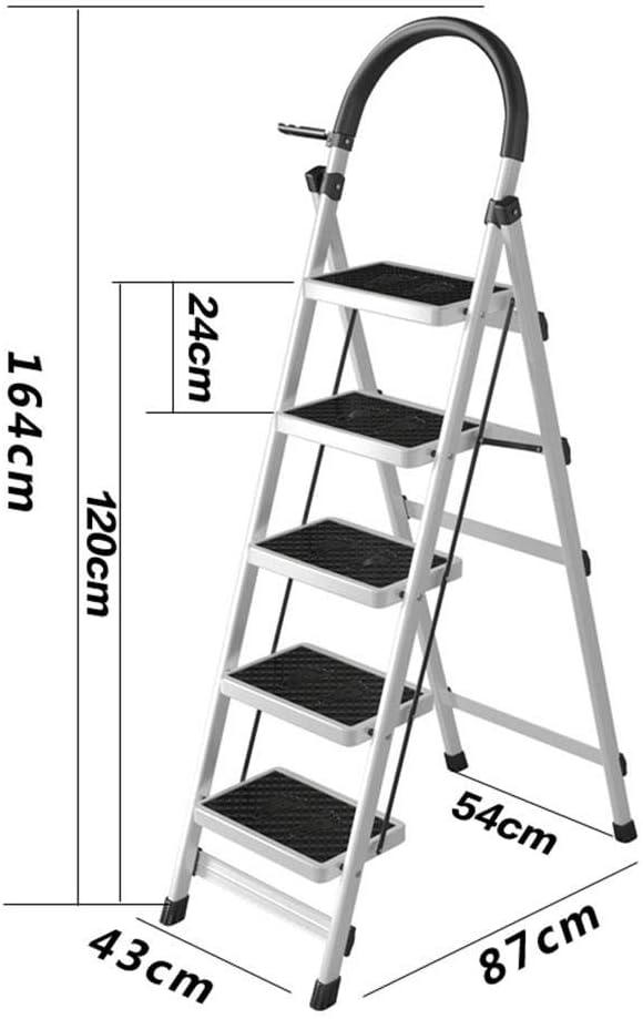 3 Stufen Trittleiter Klappbar Multifunktional Teleskopierbar Haushalt 4 5 Stufen Leiter Heben Fischgr/ätenleiter Innen Kleine Treppe Tragend 150Kg Pink 4 Schritte