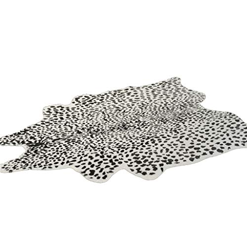 Rug Pads Home Décor/Area Rugs, Runners & Pads Carpet American Cowhide Carpet Living Room Bedroom Coffee Table Hotel Carpet Black and White Spotted Snow Leopard Pattern mat (Snow Rug Leopard)