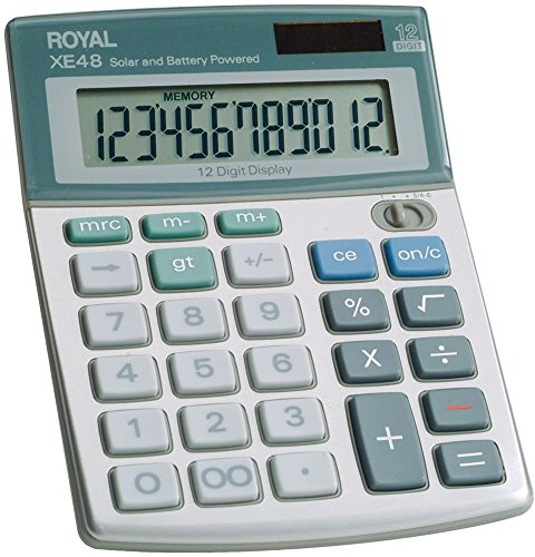 - Royal - Compact Desktop Solar Calculator (Pack Of 2)