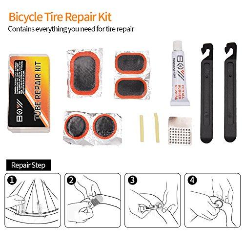AQQEF Bike Repair Kit, Bicycle Repair Kits Bag With Portable Bike Pump  16-In-1 Bike Multi Tool Kit Sets by AQQEF (Image #5)