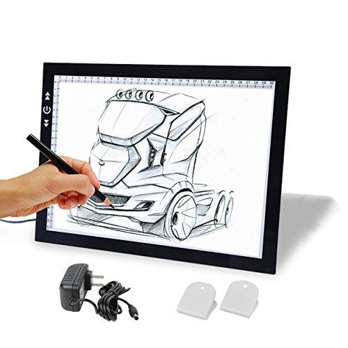 A4 Tracing Light Box, GILUMI Ultra Thin Adjustable Brightnes