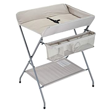 Folding changing table Cariboo Amazoncom Changing Table Folding Baby Children Portable Diaper Station Girl Boy Nursery Organizer For Infant Travel Beige Baby Amazoncom Amazoncom Changing Table Folding Baby Children Portable Diaper