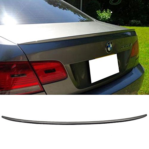 (Pre-painted Trunk Spoiler Fits 2007-2013 BMW 3-Series E92 | M3 Style Painted #668 Jet Black ABS Rear Tail Lip Deck Boot Wing other color available by IKON MOTORSPORTS | 2008 2009 2010 2011 2012 )