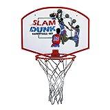 """Slam Dunk Indoor/Outdoor Basketball Hoop Set - 19"""" Backboard + 11"""" Steel Rim"""