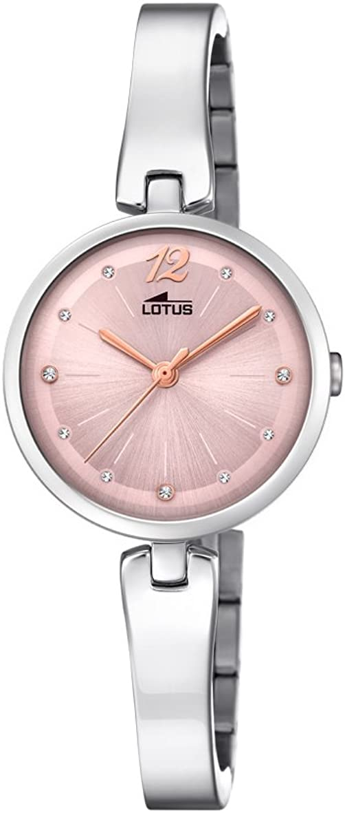 Lotus Watches Reloj Análogo clásico para Mujer de Cuarzo con Correa en Acero Inoxidable 18445/2