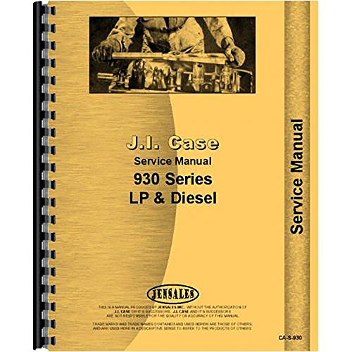 - New Case 930 Tractor Service Manual