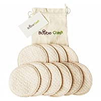BC Washable Nature Organic Cotton Nursing Pads(10 Pack) + Travel bag Leakproo...