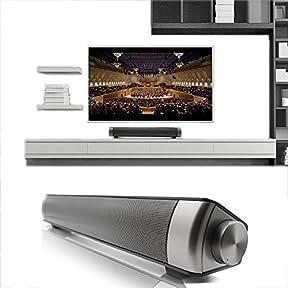 Elecsoul TV Speaker 10W Bluetooth Soundbar 3.0 Channel Stereo Speaker Subwoofer Wireless Small TV Sound Bar Support...