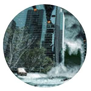 alfombrilla de ratón Ciudad destrozada por el tsunami - ronda - 20cm