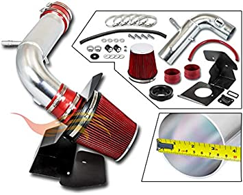 RTUNES RACING COLD AIR INTAKE w//HEAT SHIELD KIT Compatible For 11-18 Ford EXPLORER 3.5L BLACK