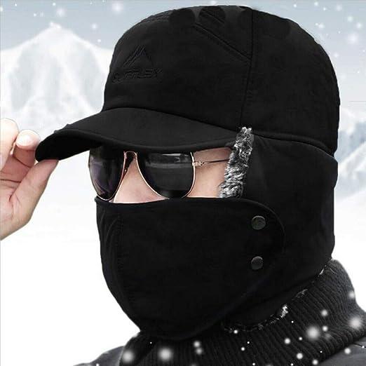 Smilikee Gorro unisex con solapa para orejas y pasamonta/ñas de invierno para hombre