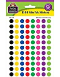 colored shapes - Teacher Created Resources Colorful Circles Mini Stickers Value Pack, Multi Color (4743)