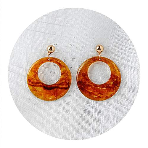 AU Brincos Boucle D'oreille Big Brown Shape Circle, used for sale  Delivered anywhere in Canada