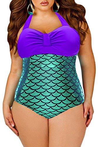 Womens Swimsuit Glitter Mermaid Swimwear