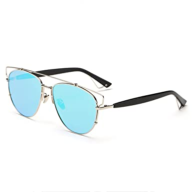 1d6c1a05fc66 Image Unavailable. Image not available for. Color  Woodstock - by Addicted  Brands. Turqoise Lens Sunglasses