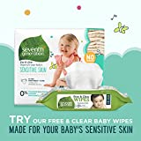 Seventh Generation Baby Diapers for Sensitive Skin, Plain Unprinted, Size 6, 100 Count