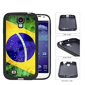 Brazil Flag Sideways Green Yellow and Blue Grunge Hard Rubber TPU Phone Case Cover Samsung Galaxy S4 I9500