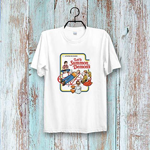 (Let's Summon Demons Ringer Children Story Tee Top Retro CooL Vintage T shirt Unisex & Ladies 440B T-Shirt, Hoodie Unisex)