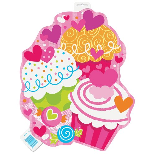 Paper Cutout Cupcake Hearts Decoration