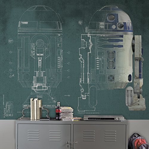 RoomMates Star Wars R2-D2 Prepasted Removable Mural - 6' X 7.5'