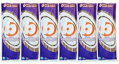 King Soba Gluten Free, Organic 100% Buckwheat Pasta Noodles 8.8oz - 3 Servings Per Pack