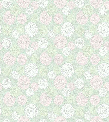 Ambesonne Mint Duvet Cover Set, Dahlia Flowers in Pastel Tones Spring Blooms Theme Floral Pattern, Decorative 3 Piece Bedding Set with 2 Pillow Shams, Queen Size, Pale Mint