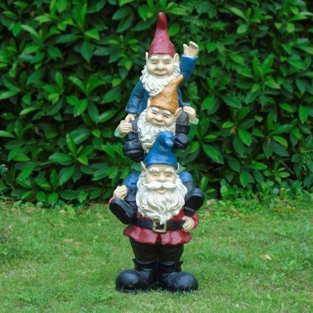 Almost 3ft Stacked Gnomes - Gnome 3