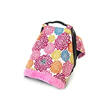 Itzy Ritzy IR-CAN8067 Cozy Happens Infant Car Seat Canopy and Tummy Time Mat, Fresh Bloom