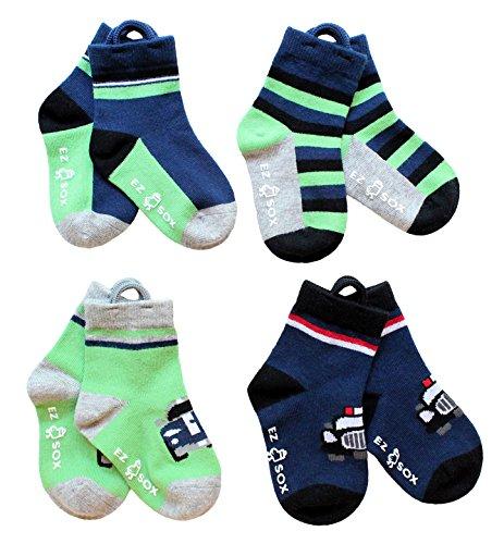 ez-sox-kids-socks-seamless-toe-4-pairs-cars-blue-solids-stripes