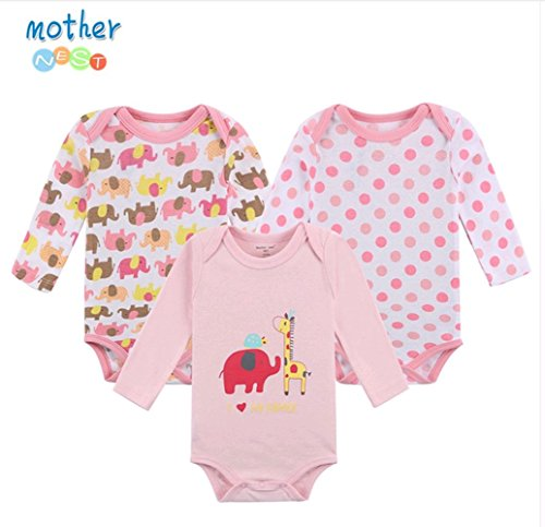 Mother Nest Baby Boys Grils Bodysuits 100% Cotton