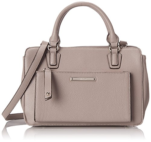 Nine West Zip N Go Satchel Top Handle Bag Grey One Size