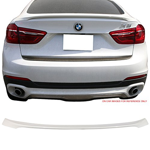 - Pre-Painted Trunk Spoiler Fits 2016-2017 BMW F16 X6 | Performance Style #A96 Mineral White Pearl Rear Spoiler Wing Tail Lid Finisher Deck Lip by IKONMOTORSPORTS