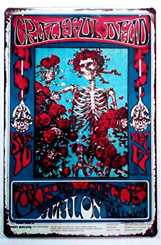 (Pish Posh Llc Vintage Tin Sign Decor, The Grateful Dead)