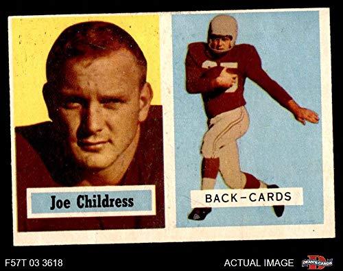 1957 Topps # 100 Joe Childress Chicago Cardinals-FB (Football Card) Dean's Cards 3 - VG Cardinals-FB ()