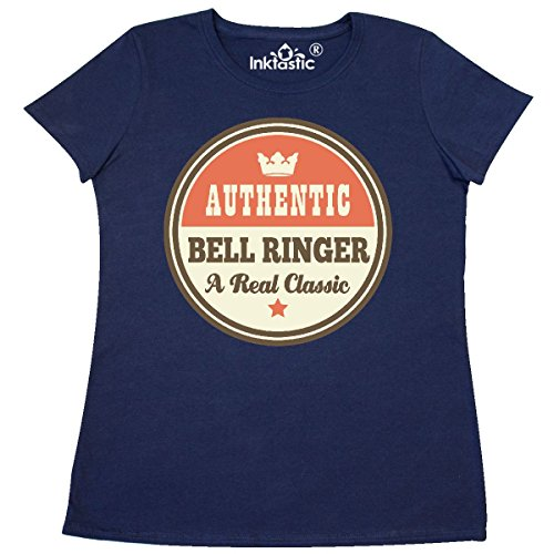 Inktastic - Bell Ringer Vintage Classic Women's T-Shirt Medium Navy Blue (Navy Classic Ringer T-shirt)
