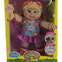 Cabbage Patch Kids Adoptimal Doll Blonde Glasses Floral Dress