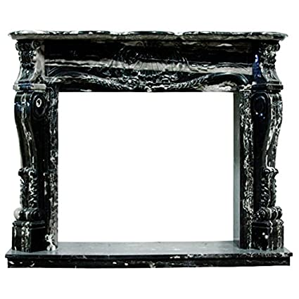 Stupendous Amazon Com Black And White Polished Marble Fireplace Download Free Architecture Designs Boapuretrmadebymaigaardcom